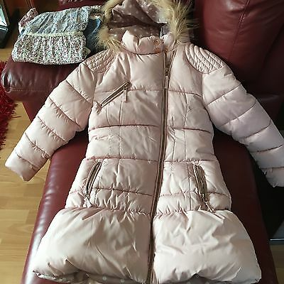 Brand New Girls Next Pink Puffa Coat Age 9-10 Yrs