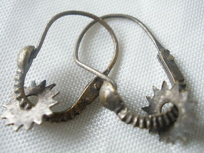 Earrings Macedonia Greek Antique Silver 19th c. Ottoman Lovely Rare Bulgaria Old