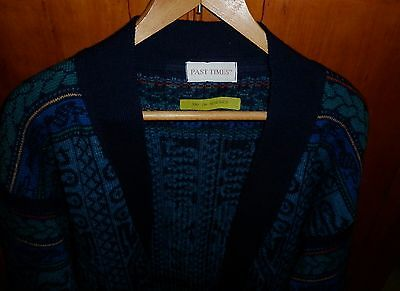 VINTAGE 1980s QUIRKY ENGLISH  KNIT CARDIGAN  SIZE S  EXCELLENT CONDITION