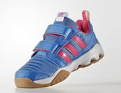 Adidas Gym Plus 3 Shoes Size UK 1 Brand New, Color Ray Blue/Shock Pink/ White
