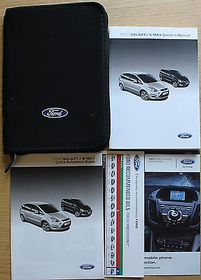 Ford Galaxy / S Max Owners Manual Handbook Wallet Audio Mobile Guide 2010 - 2015