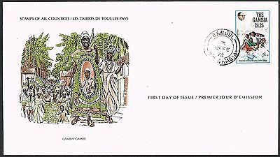 Gambia 1978.  FDC. Independence Regatta/Long Boat Rowing/Tribal Dress.