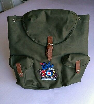 THE WHO 50 hits British tour official Merchandise canvas back pack (New).