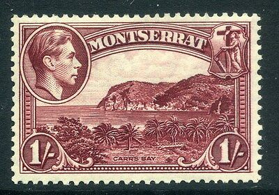 MONTSERRAT;  1938 early GVI issue fine Mint hinged Perf 13 issue, 1s. SP-245835