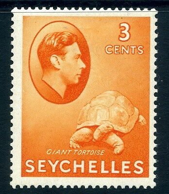 SEYCHELLES;  1938 early GVI issue fine Mint hinged 3c. SP-245865