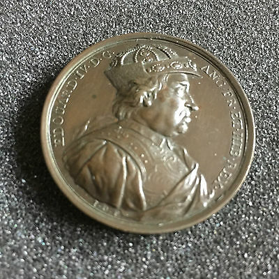 1731 Edward IV 41mm Bronze Commemorative Medal By Jean Dassier No 20 in Series