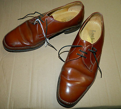vintage Loake 1880 size 9 Tan leather shoes (T234)