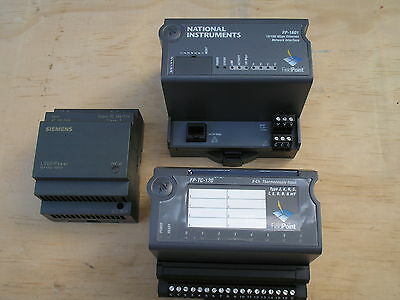 National Instruments FP-1601 / 8-Channel input box & Siemens power supply.