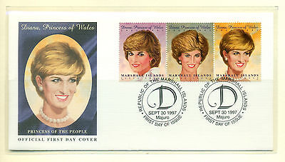 PRINCESS DIANA - MARSHALL ISLANDS - MNH Stamps and First Day Cover