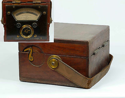 Vintage CAMBRIDGE & PAUL Volt Reader AMMETER INSTRUMENT in MAHOGANY BOX