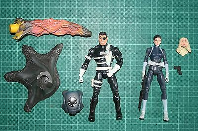 Marvel Legends Maria Hill Sharon Carter Two Pack Loose Nick Fury Shield Avengers