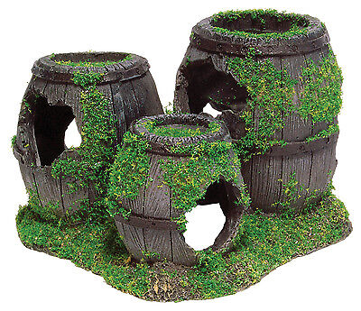 Sunken Barrels with Moss Aquarium Fish Tank Ornament Decoration