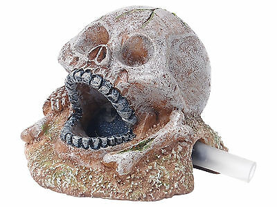 Air Bubble Skull Aquarium Fish Tank Ornament Decoration