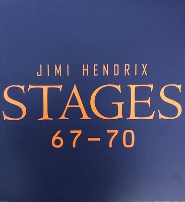 Vintage Jimi Hendrix Stages 67-70 Record Store Promo Poster 2 Sided