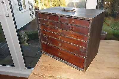 Early Engineers / Watchmakers 8 Drawer Mahogany Tool Box