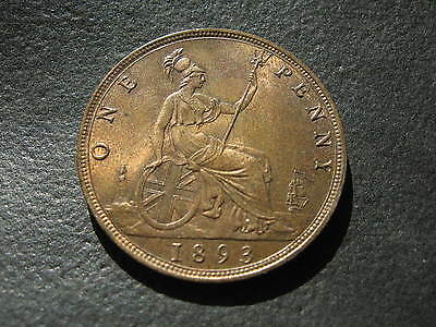 1893 Penny. Victoria - High Grade One Penny Coin.