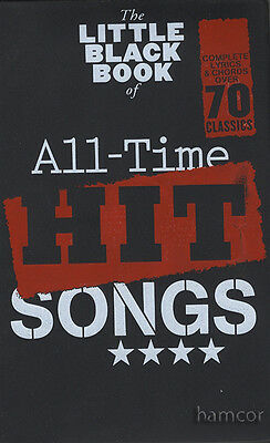 The Little Black Book of All-Time Hit Songs Guitar Chord Songbook Pop Songs