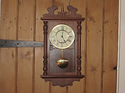 Vintage Westminster Chiming Hermle Wall Clock In V.g.w.o.