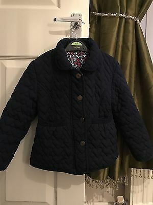 Girls George Navy Jacket Ages 4-5