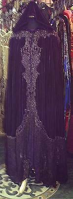 Beautiful purple velvet cloak, handmade in Glastonbury, UK. Amazing quality.