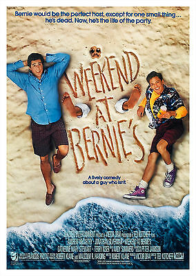 Weekend at Bernie's (1989) - A1/A2 POSTER **BUY ANY 2 AND GET 1 FREE OFFER**
