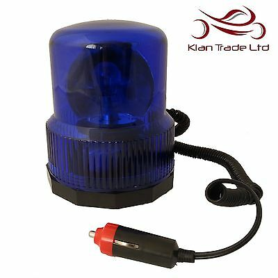 Magnetic Blue Rotating Beacon 12v Roof Signal Flashing Light Emergency