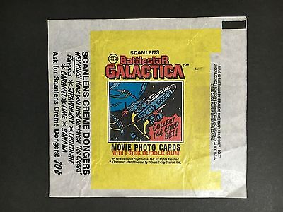 Scanlens Battlestar Galactica Trading Card Wrapper From 1978