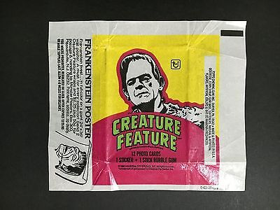 """Creature Feature Trading Card Wax Wrapper """"frankenstein"""""""