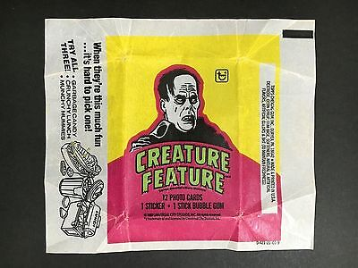 """Creature Feature Trading Card Wax Wrapper """"phantom Of The Opera"""""""