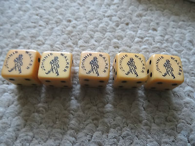 Vintage Set Of 1950S Johnnie Walker Advertising  Dice, Mint Condition