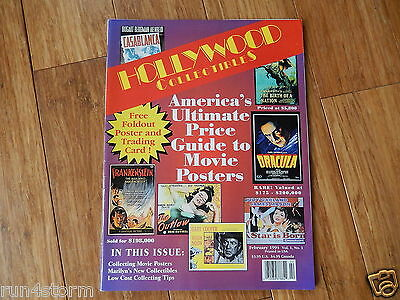 1994 HOLLYWOOD COLLECTIBLES Magazine free foldout Poster Marilyn Monroe