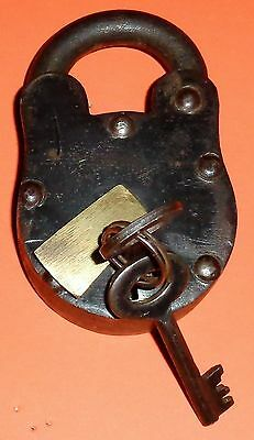 Iron Lock and Key Heavy Duty Rustic 2 Original Keys Ships Priority