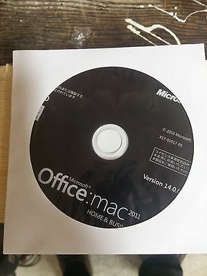Microsoft Office for Mac Home and Business 2011 & Disc