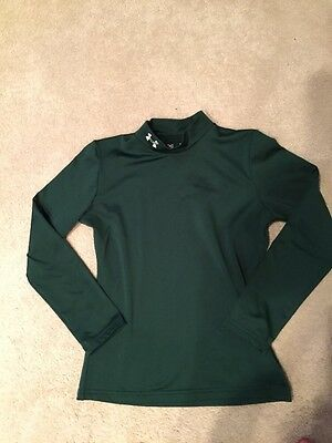 Under Armour Dark Green Cold Gear Long Sleeve Shirt Size Youth L