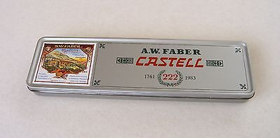 A.W.Faber Castell  Advertising Pictorial Tin With 12 Castell HB 9000 Pencils