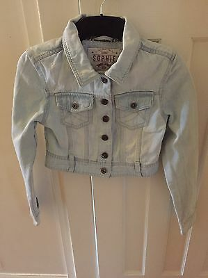 Girls Pale Blue Denim Jacket Age 10-11