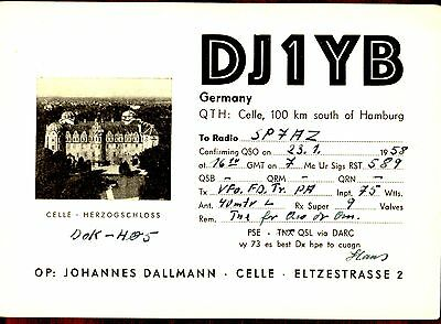 VINTAGE QSL CARDS- Photo, celle, Germany, 1958