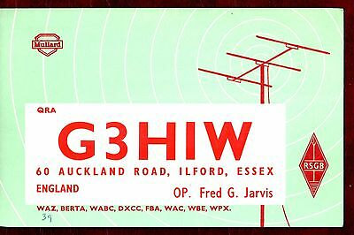 VINTAGE QSL CARDS- Pictorial, Ilford, UK, 1960