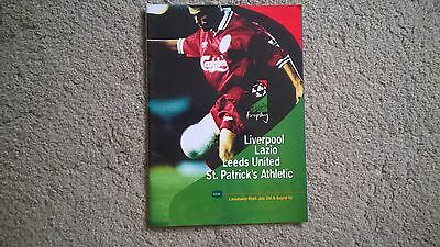 Liverpool-Lazio- Leeds United- St.partrick Athletic  Programme