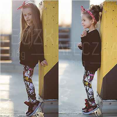 US 2PCS Toddler Kids Baby Girls Outfits Clothes Swearter Tops +Legging Pants Set