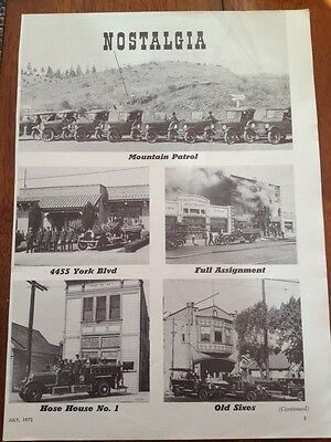 Vintage Fire Engine Fire Truck Ad Advertisement Fire Fighter FR14