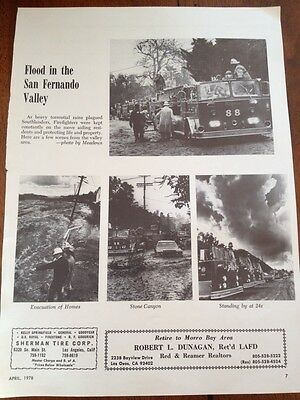 Vintage Fire Engine Fire Truck Ad Advertisement Fire Fighter FR39