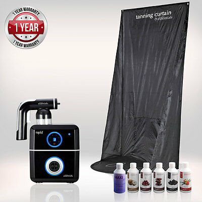 Tanning Essentials™ Rapid 'Black' Spray Tan complete Kit with Curtain + Tan