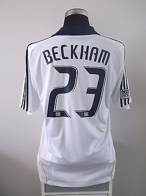 David BECKHAM #23 LA Galaxy Home Football Shirt Jersey 2008/09 (L)