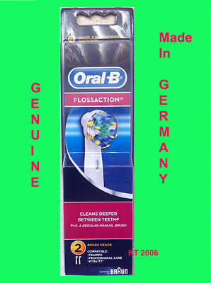 Oral B Floss Action Replacement Toothbrush Heads - 2 Pack