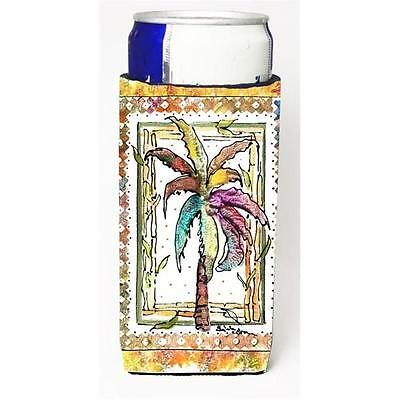 Carolines Treasures Palm Tree Michelob Ultra bottle sleeves for slim cans 12 oz.