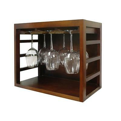 Vinotemp EP-STACK12G Epicureanist Stackable Wine Glass Rack Medium Brown