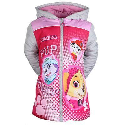 Paw Patrol Girl's Hooded Coat 2-8 years