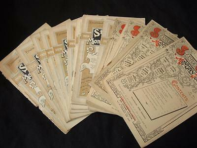 14 Assorted Issues Of The Stanley Gibbons Monthly Journal 1902-1905