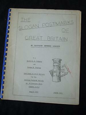 THE SLOGAN POSTMARKS OF GREAT BRITAIN by CYRIL PARSONS